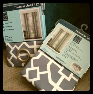Window panel bundle with thermal lining